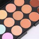 New 15 Colors Contour Face Cream Makeup Party Concealer Palette + Sponge Puff FE