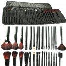 32pcs Makeup Brushes Foundation Powder Eyeshadow Comsmetic Case Kit Set FE