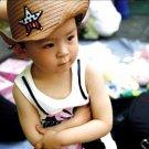 Cute Baby Kids Children Boys Girls Straw Western Cowboy Sun Hat Cap Gift GP