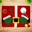 Christmas Santa Cloth Placemat Table Cushion Cover Decor Tableware Mat FE
