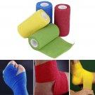 Self-Adhering Bandage Wraps Elastic First Aid Tape Stretch 4.5m x 10cm FE
