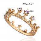 New Korean Version Classic Diamond Ring Crown Ring  Ring for Lovers FE