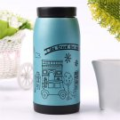 Cute Insulated Stainless Steel Canteen Camping Flask 350ml Water Bottle #A