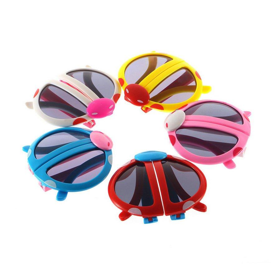 2015 Children Girls Boy Cartoon Folding Baby Beetle Kids Sunglasses Goggles FE