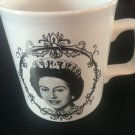 Queen Elizabeth Silver Jubilee 1952 1977 royalty Royal Coffee Cup Porcelain Mug