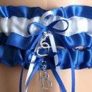 Royal Blue and White Wedding Garter Set, Prom Garter Set