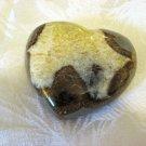 Carved Septarian Heart, Calcite, Aragonite, 80mm, From Utah