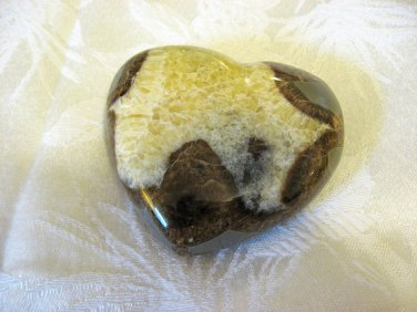 Carved Septarian Heart, Calcite, Aragonite, 80mm, From Utah