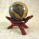 Septarian Sphere, Yellow Calcite, Aragonite, 58mm, From Madagascar