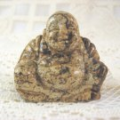 Picture Jasper Carved Buddha 2 in. Handmade Natural Stone