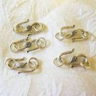 "Pewter ""S"" Hook Clasp, 20mm, 5 Clasps pack, Antique Silver Finish"