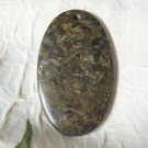 Bronzite Focal Bead, Pendant, 65mm, Natural Brown Golden