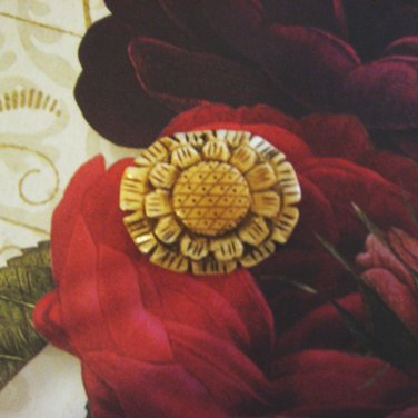 Bone Flower Focal Bead Pendant, Hand Crafted, 45mm