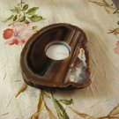 Natural Agate Geode Slab Tea Lite Candle Holder, 5-1/4 Inch