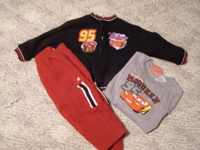 Disney Cars 3 pc outfit 18 months