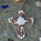 Cross Ornament (Str Cut) - Handmade Sea Shell Decor