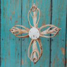 Cross ~ Handmade Cut Seashell Ornament (Vol Cut)