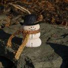 Sea Urchin Seashell Snowman Ornament ~ Gold Scarf