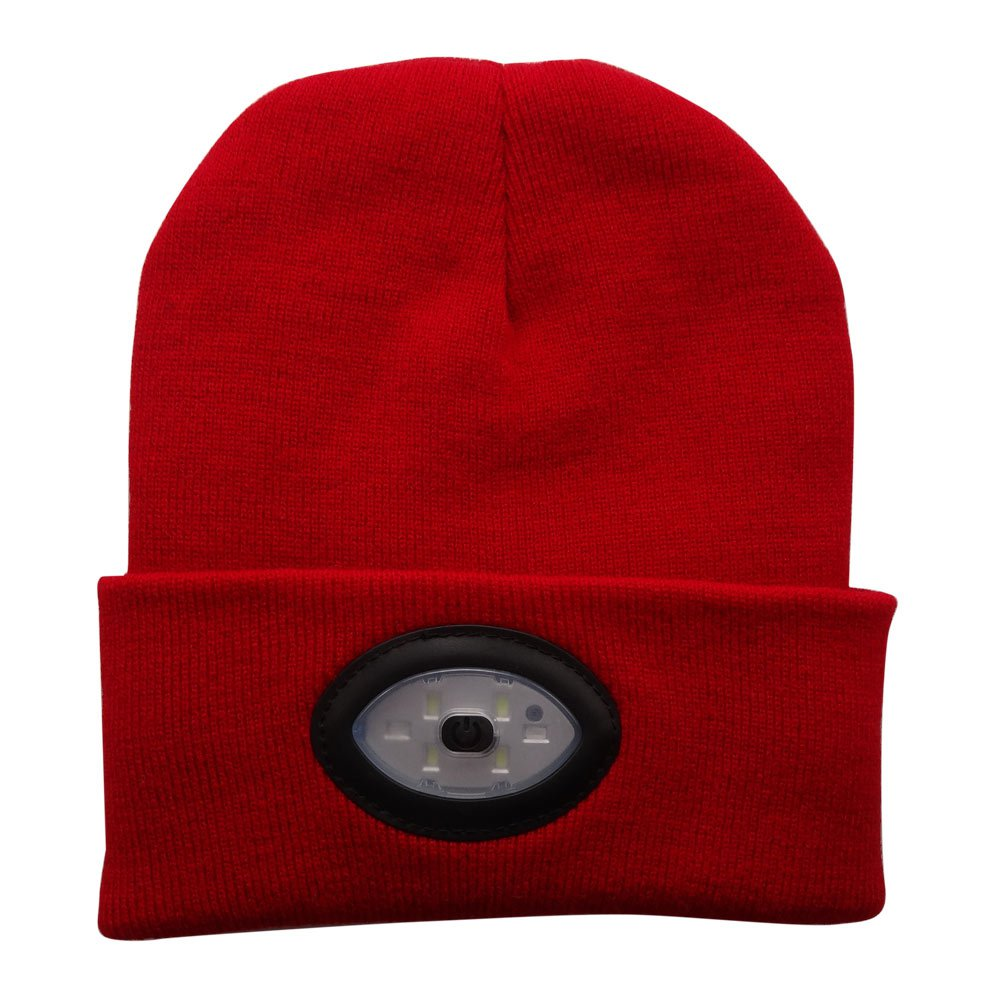 TOQUE/BEANIE With 5 LED lights - RED