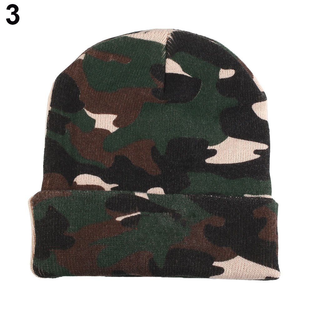 TOQUE/BEANIE With 5 LED lights - CAMOFLAGE