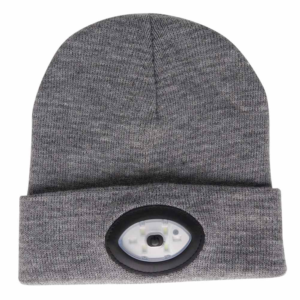 TOQUE/BEANIE With 5 LED lights - GREY