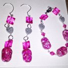 The Precious Pink Earring And Necklace Set