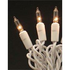 Roman Christmas Lights 50 Clear Mini Lights White on White