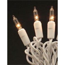 Roman Christmas Lights 35 Clear Mini Lights White on White