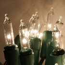 HT Clear Mini Lights on Green Cords 6 Sets