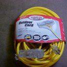 pro power 100 ft 3 outlet lighted receptacle 12/3 extension cord