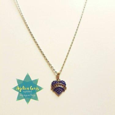 """""""Believe"""" Sapphire Crystal Heart"""