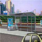 Steel Bus Shelter With Seats