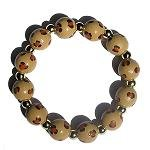 Handpainted Animal Print Cheetah Adult Stretch Bracelet