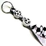 Handpainted Soccer Ball Sports Keychain