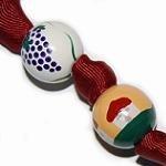 Italian Tuscan Wine Vinyard Handpainted Keychain