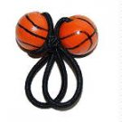 Handpainted  Basketball Sports Ponytail Holder