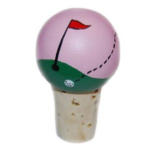 Handpainted Golf Pro Wine Stopper