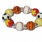 Sports Fanatic Handpainted Stretch Bracelet