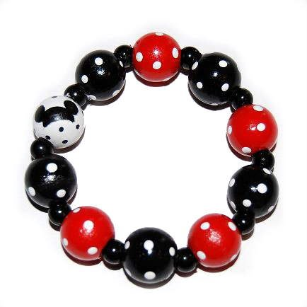 Mickey Mouse Handpainted Stretch Bracelet