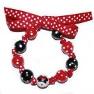 Minnie Mouse Handpainted Bow Bracelet