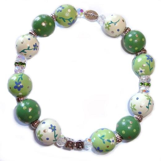 National Inclusion Project Handpainted Anniversary Adult Bracelet-Flowers