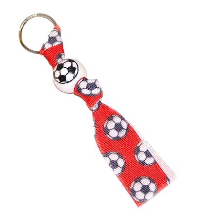 Handpainted Soccer Party Favor Keychain Clip