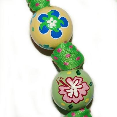 Tropical Turtle Handpainted Keychain