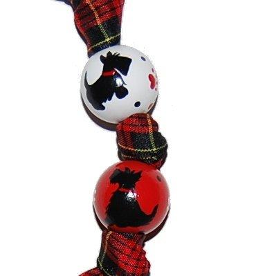 Adorable Plaid Scottie Dog Keychain