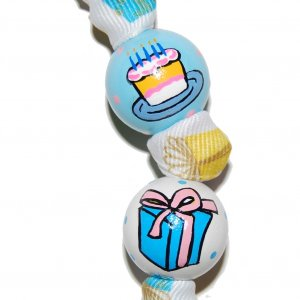 Birthday Celebration Handpainted Keychain