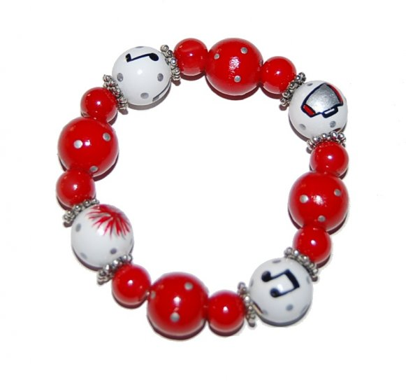 Handpainted High School Musical Stretch Bracelet