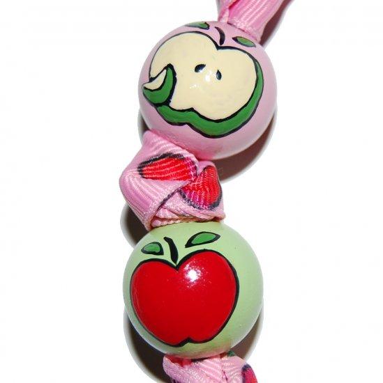 Handpainted Trendy Apple for the Teacher Gift Keychain