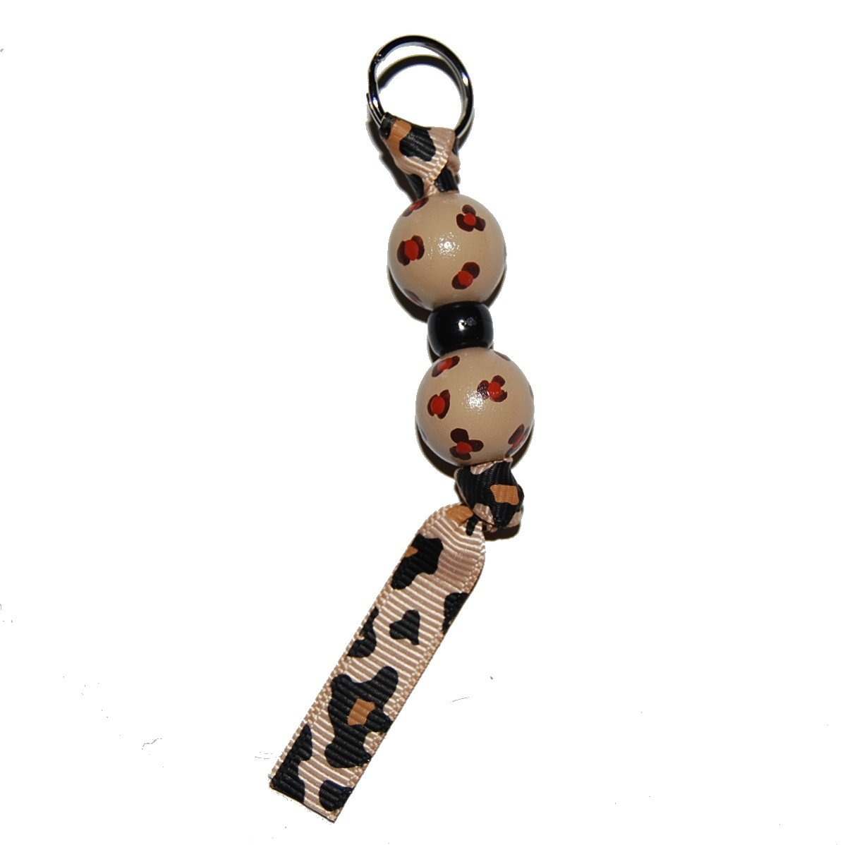 Handpainted Cheetah Zipper Pull