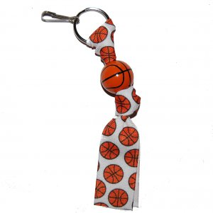Handpainted Basketball Favor Keychain Clip