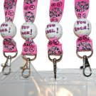 Party Favor Themed Grosgrain Ribbon Lanyards (Fast Pass Holder)